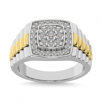 GR57622W | Mens Rings White | Payroll Jewelry