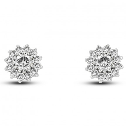 596-24DW | Cluster Earrings | Payroll Jewelry