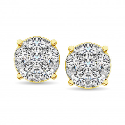 ER61611Y-A3 | Cluster Earrings | Payroll Jewelry