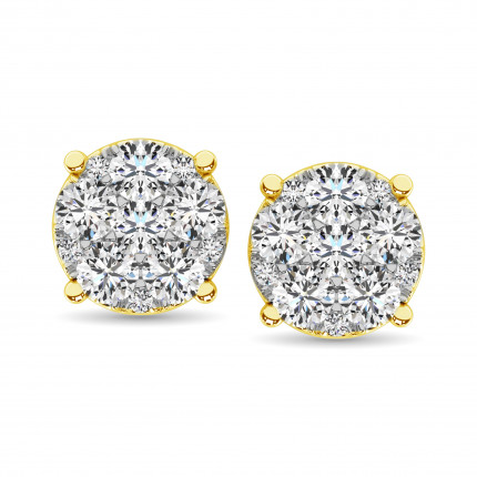 ER61611Y-A1 | Cluster Earrings | Payroll Jewelry
