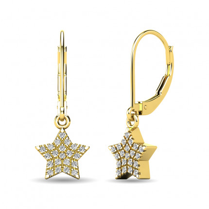 ER63240Y-E | Cluster Earrings | Payroll Jewelry
