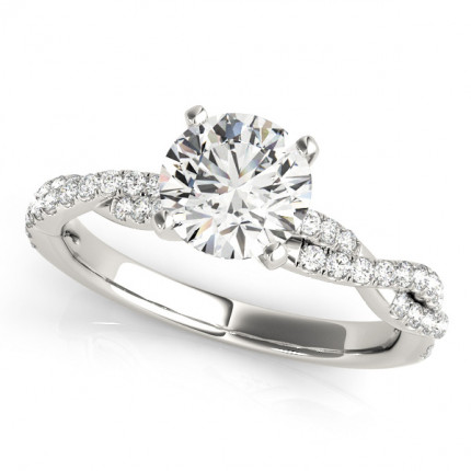 WS84774W | Side Stone Engagement Ring. | Payroll Jewelry