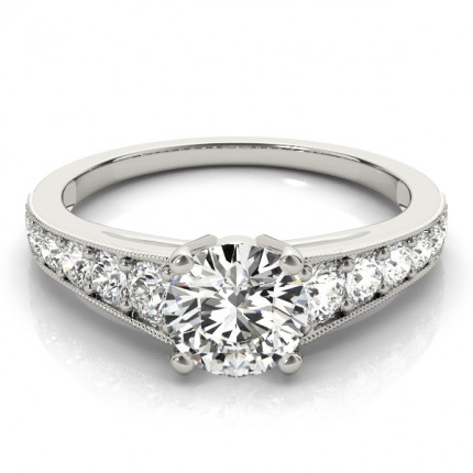 WS84845W-75 | Side Stone Engagement Ring. | Payroll Jewelry