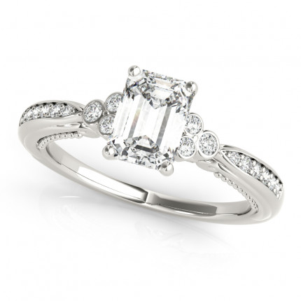 WS85106-1/2 | Side Stone Emerald Engagement | Payroll Jewelry