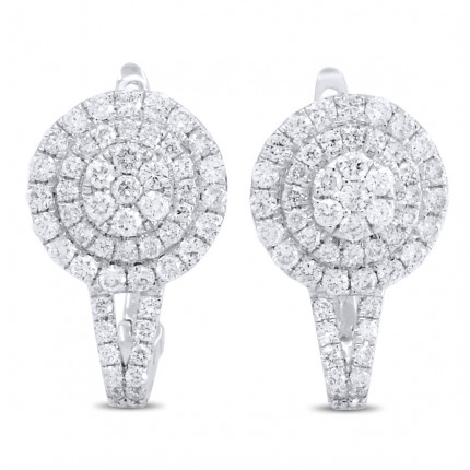 ER102531W | Cluster Earrings | Payroll Jewelry