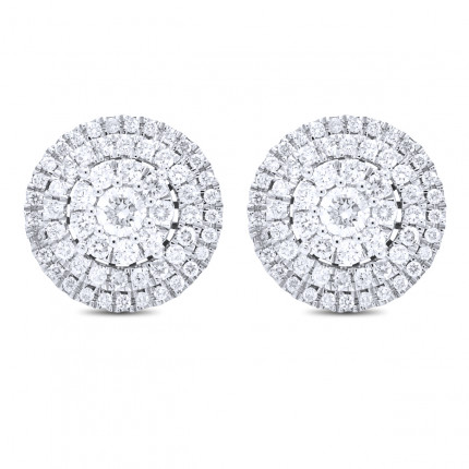 ER118809W | Cluster Earrings | Payroll Jewelry