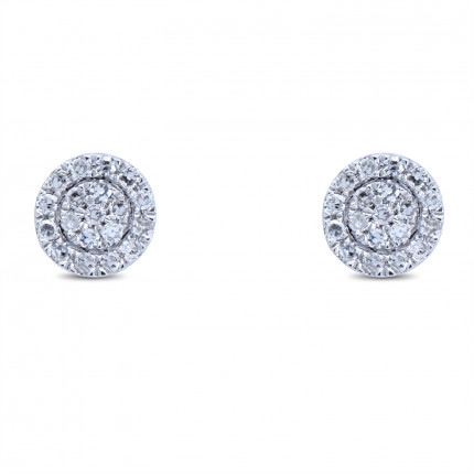 ER15229W | Cluster Earrings | Payroll Jewelry