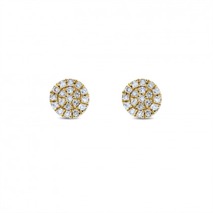 ER15229Y | Cluster Earrings | Payroll Jewelry