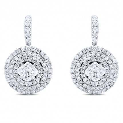ER152805W | Cluster Earrings | Payroll Jewelry