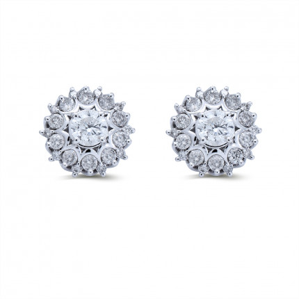 ER221143W | Cluster Earrings | Payroll Jewelry
