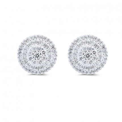 ER266W | Cluster Earrings | Payroll Jewelry