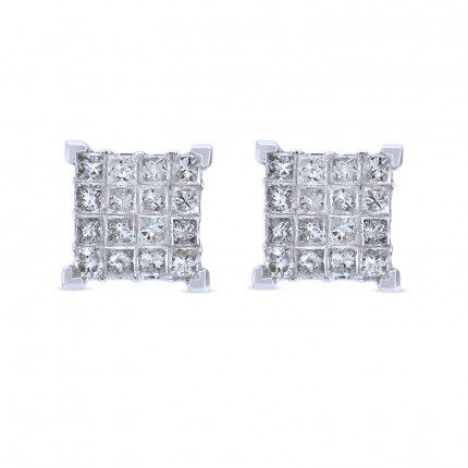 ER26893W | Cluster Earrings | Payroll Jewelry