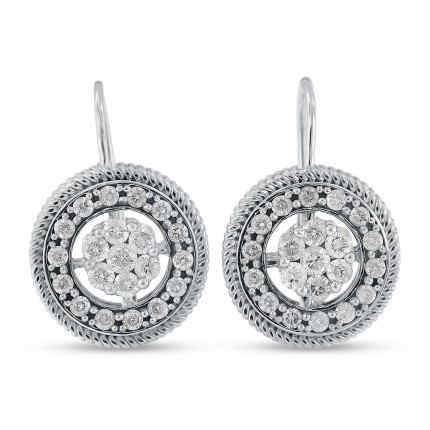 ER42481W | Cluster Earrings | Payroll Jewelry