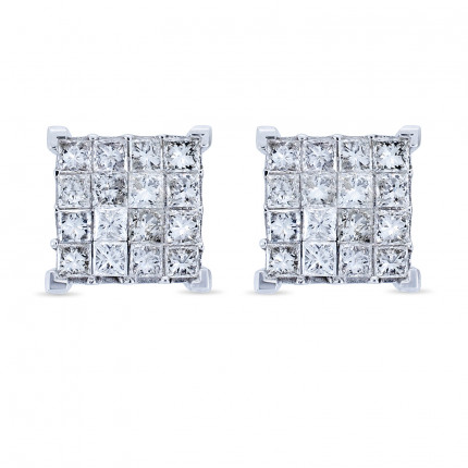 ER57916W | Cluster Earrings | Payroll Jewelry