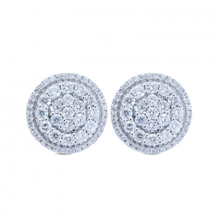 ER61156W | Cluster Earrings | Payroll Jewelry