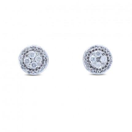 ER62W | Cluster Earrings | Payroll Jewelry