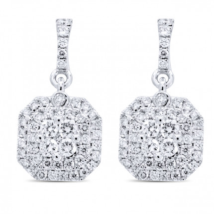 ER98397W | Cluster Earrings | Payroll Jewelry