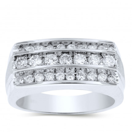 GR27604W | White Gold Mens Ring. | Payroll Jewelry