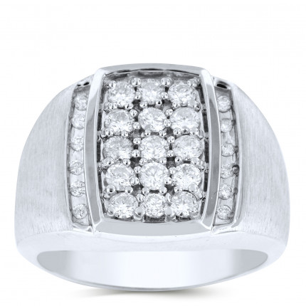GR27608W | White Gold Mens Ring. | Payroll Jewelry