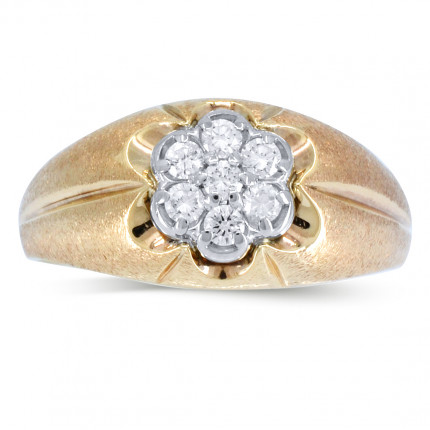 GR7226Y | Yellow Gold Mens Ring | Payroll Jewelry