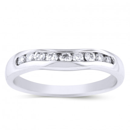 LB9155W | White Gold Band | Payroll Jewelry