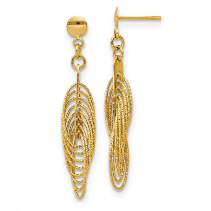 LE1484 | Gold Hoops | Payroll Jewelry