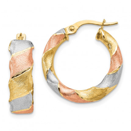 LE1837 | Gold Hoop Earrings | Payroll Jewelry