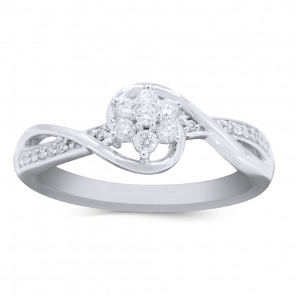 LR19192W | White Gold Ladies Ring | Payroll Jewelry