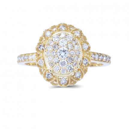 LR332Y   Halo Rings   Payroll Jewelry