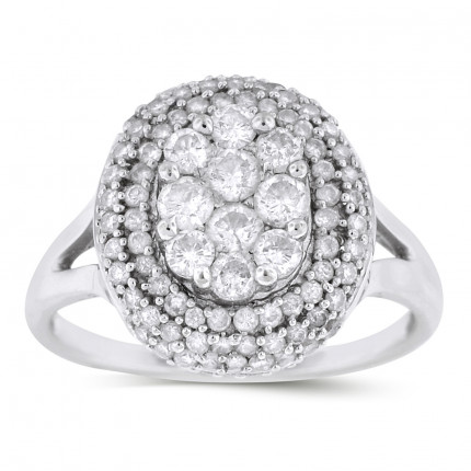 LR96150W | White Gold Ladies Ring | Payroll Jewelry
