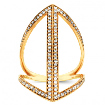LR98225P | Yellow Gold Ladies Ring | Payroll Jewelry