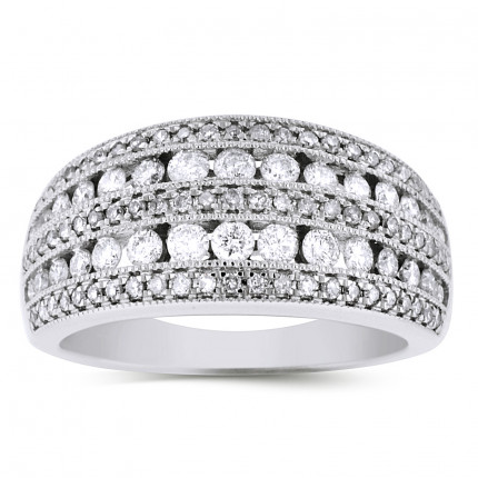 LRB150314W | White Gold Ladies Ring | Payroll Jewelry