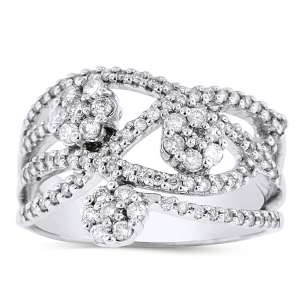 LRB60281W | White Gold Ladies Ring | Payroll Jewelry
