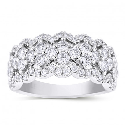 LRB66801W | White Gold Ladies Ring | Payroll Jewelry