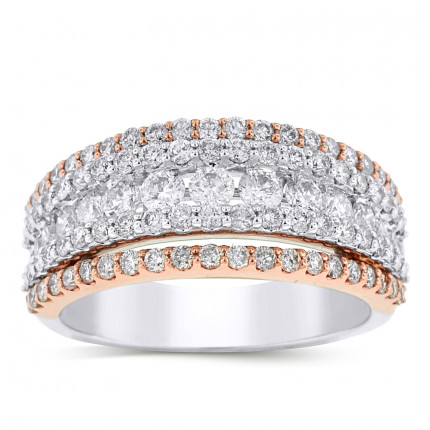 LRB94726PW | White Gold Ladies Ring | Payroll Jewelry