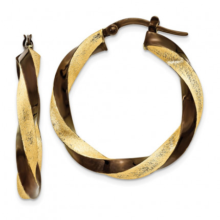 PRE197 | Gold Hoop Earrings | Payroll Jewelry