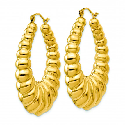 S1503 | Gold Hoop Earrings | Payroll Jewelry