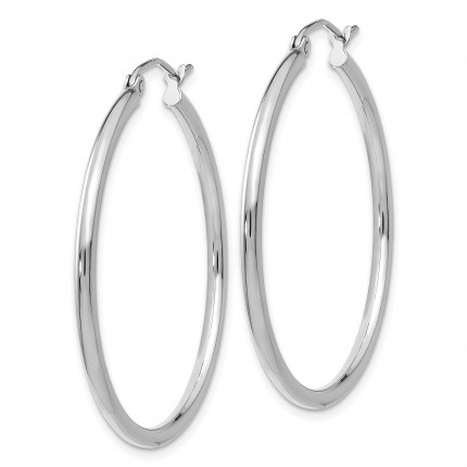 T825L | Gold Hoop Earrings | Payroll Jewelry