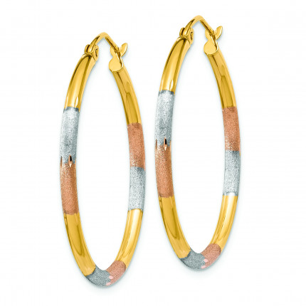 TC774 | Gold Hoop Earrings | Payroll Jewelry