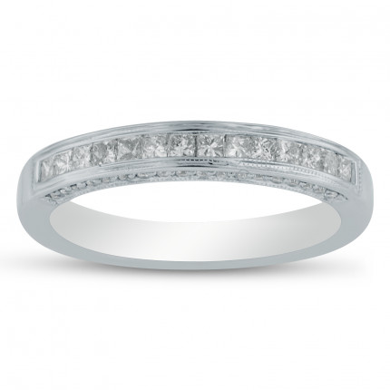 WB50286W | White Gold Band | Payroll Jewelry