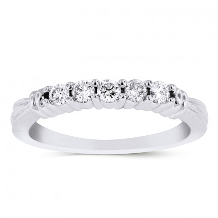 WB5171W | White Gold Band | Payroll Jewelry