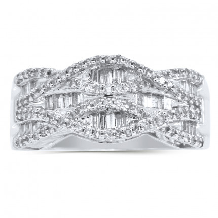 WLB60445W | White Gold Ladies Ring | Payroll Jewelry