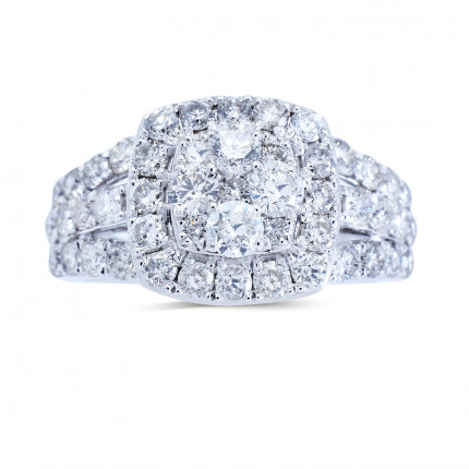 WLR186963W   Halo Rings   Payroll Jewelry