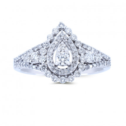 WLR221118W | Halo Rings | Payroll Jewelry