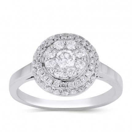 WLR61325W | Halo Ladies Engagement Ring | Payroll Jewelry