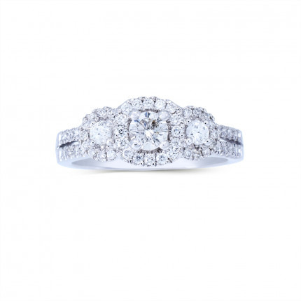 WLR801054W   Halo Rings   Payroll Jewelry