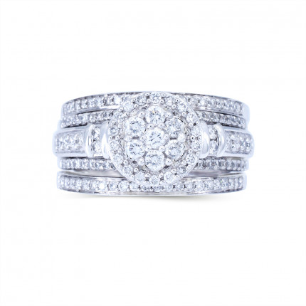 WLR804173W | Halo Rings | Payroll Jewelry