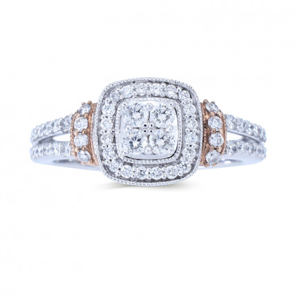 WLR805121W   Halo Rings   Payroll Jewelry