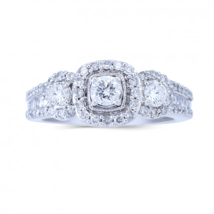 WLR806471W | Halo Rings | Payroll Jewelry