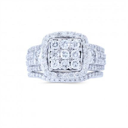 WLR807823W | Halo Rings | Payroll Jewelry